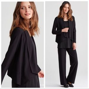 Eileen Fisher Drape Front Jacket in Stretch Crepe